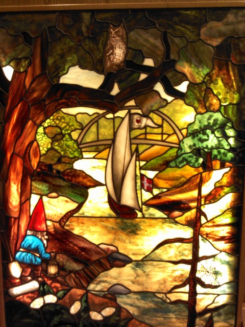 Stained glass panel at Fairview Southdale